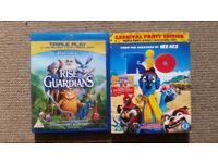 ''Rio'' & ''Rise Of The Guardians'' Both Triple Play Blu-Ray + DVD + Digital Copy