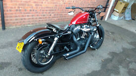 2013 HARLEY DAVIDSON 1200 48 FORTY EIGHT ABS 63 REG MINT CONDITION