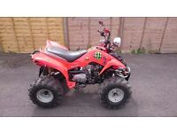 Road legal quad bike long mot ready to go.