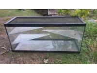 """Glass Pet Tank/Cage 36"""" long, with sliding lid"""