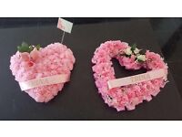Flower arragments, fresh and artificial