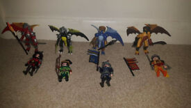 Playmobil Dragon and Fighting Knights x 4 sets - earth, wind, sea & fire