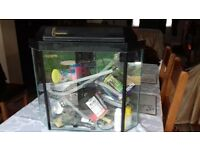 CLEAR SEAL CORNER FISH TANK WITH STAND***