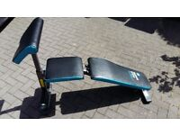 MENS HEALTH WEIGHTS BENCH WITH ARM CURL - flat-incline-decline