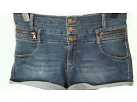 High waisted shorts size 14