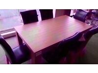 EXCELLENT CONDITION NEW! oak veneer dining table and 6 chairs set