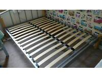 Large double bed frame