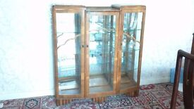art deco glass cabinet