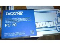 Original Brother PC-70 printing cartridge.