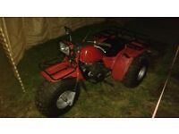 Honda big red trike, 125. Any trial welcome as in mint condition.