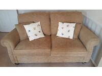 3-seater neutral fabric sofa bed (double) - Excellent Condition