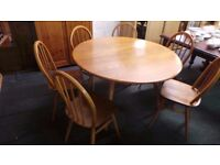 ERCOL Very Good condition drop leaf table and 6 chairs,We can deliver BRISTOL AREA