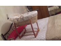 Moses basket for sale £30