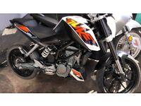 KTM DUKE 125cc ABS MODEL 2015 / 65 PLATE