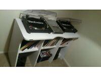 Complete DJ Set up - Two Technics 1210 Mk2 decks