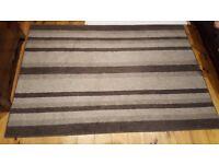 Grey Striped Rug (IKEA Glatved)