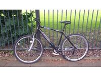 Hybrid bike for sale. Bought brand new 2 months ago in Halfords. Selling cause moving out of country