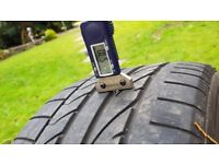 2x 225/40/18 Bridgestone Potenza RE05 runflat tyres