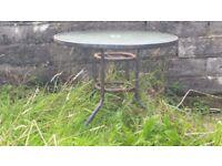 Free - Bistro patio glass top garden table