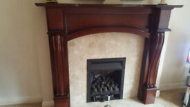 Solid Mahogony fire surround in good condition. (HEARTH & BACK PANEL NOT INCLUDED)