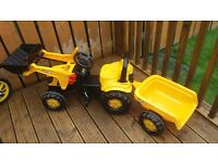 JCB tractor and trailer 8 months old. Bought for grandparents house immaculate