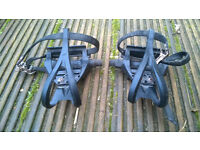 Pair of Bike Pedals with Toe clips