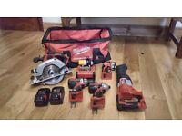 Milwaukee 18v cordless power tool set