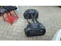 Motorcycle panniers & tank bag