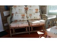 REDUCED Conservatory Furniture - 2 Seater. 2 x Chairs & 1 Coffee Table