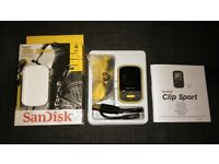 Sandisk 4 GB Clip sport mp3 player in yellow
