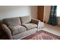 Great Quality 3 Seater Sofa and footstool as new