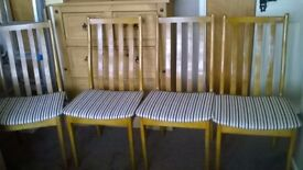 4 x Oak chairs for sale