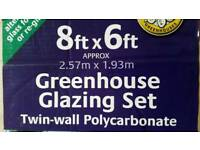 Polycarbonate greenhouse glazing set
