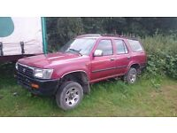 TOYOTA HILUX SURF 4 RUNNER 3.0 DIESEL LHD LEFT HAND DRIVE ORGINAL SPARES OR REPAIRS EXPORT WELCOME