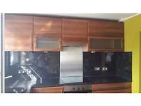 Kitchen furniture oven and hob