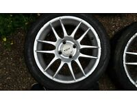 "Set of 15"" TSW Alloy wheels with new tyres 4×100 stud"