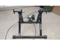 Magnetic bike trainer. Add your bike to this to train during the winter