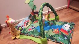 Fisher price play mat Miusic and toys