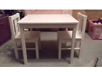Child sized Table with two chairs