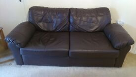 Pair of Dark Brown Sofas in Excellent Condition