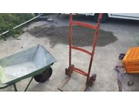 Sack barriw and garden wheele barrow