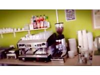 Commercial coffee machine and bean grinder