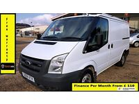 Ford Transit Low Roof SWB Panel Van 2.2 300 -1 Owner Ex BT- FSH 8 Stamps -1YR MOT-72K Miles -260 280