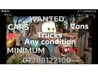 WANTED ALL CARS VANS AND TRUCKS BUSES BIKE TRACTORS WANTED BERKSHIRE HAMPSHIRE READING