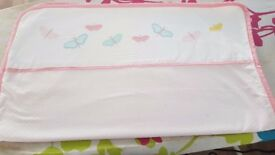 Swing crib bumper and blanket