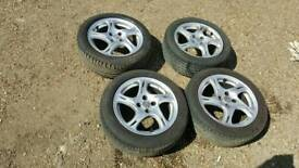"Honda civic 16"" alloys and tyres"