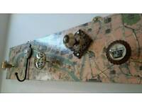 Beautiful shabby chic coat hanger