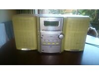 KENWOOD HIFI STEREO MINI SYSTEM RXD-M32 WOOD SPEAKERS LS-M32-Y FULLY WORKING