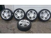 Renault Genuine 17 '' alloy wheels + 5 x tyres 225 45 17