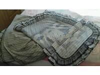 Sheridan duvet cover, pillow cases + valance